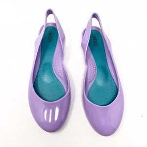 Oka B | Pastel Purple Sling Back Flats
